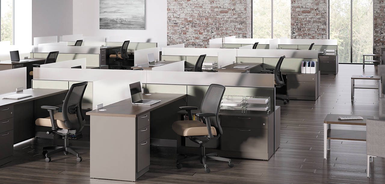 Abode Workstations with Contain and Endorse Chairs
