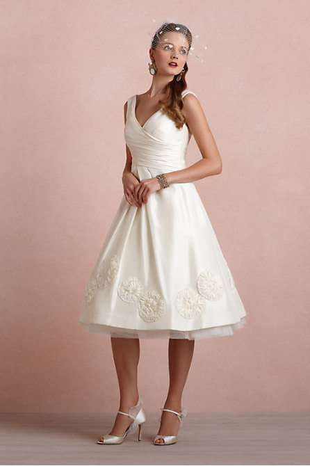 Pinwheel Tea Dress in  the SHOP Gowns at BHLDN :  wedding dress cream events