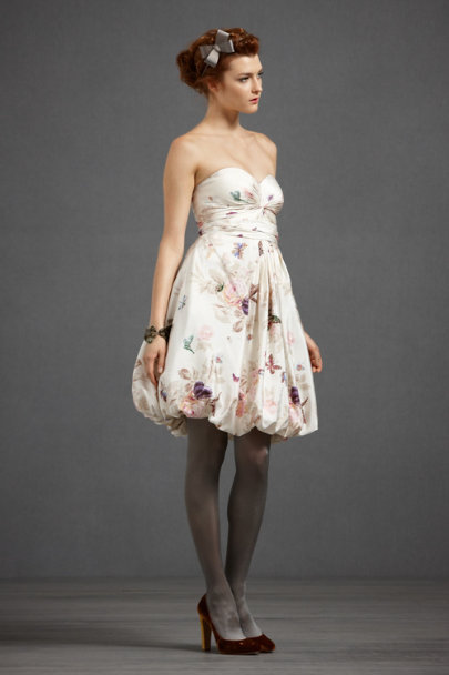 Hitherto Cream Combo Twirled Sweetheart Dress | BHLDN