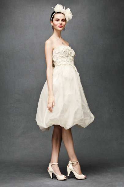 Parchment Floral Artwork Dress | BHLDN