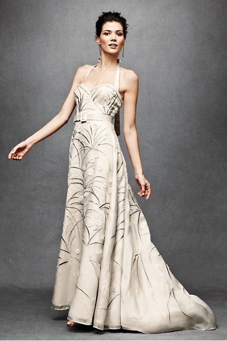 Trumpeted Pavot Gown in  the SHOP Gowns at BHLDN :  floral bride belt buds