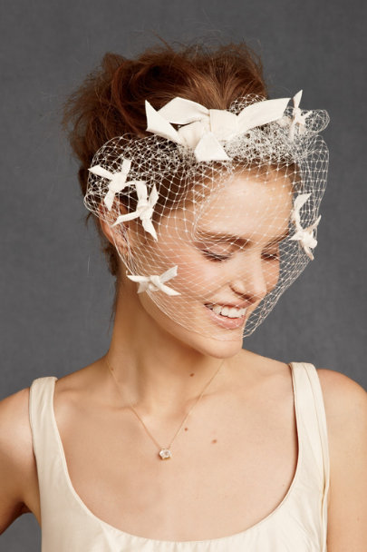 James Coviello Ivory Etoile Birdcage Veil | BHLDN