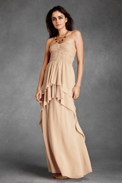 va et vien Blush Aqueous Column Dress | BHLDN
