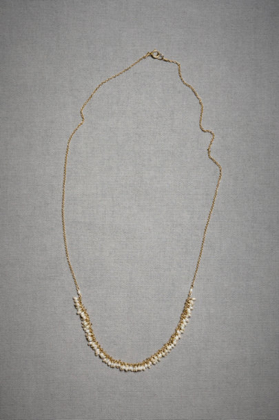 Gold 100 Pearls Necklace | BHLDN