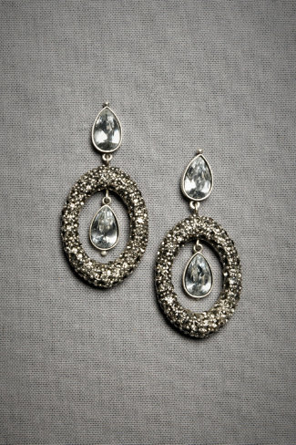 Pave Teardrop Earrings, $180