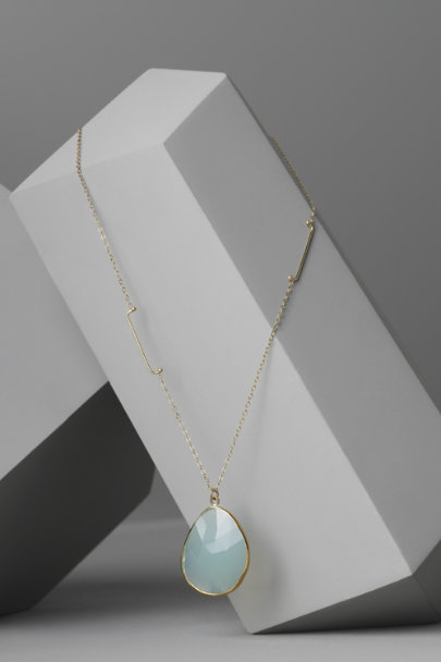Melissa Joy Manning Peruvian Chalcedony Marina Necklace | BHLDN