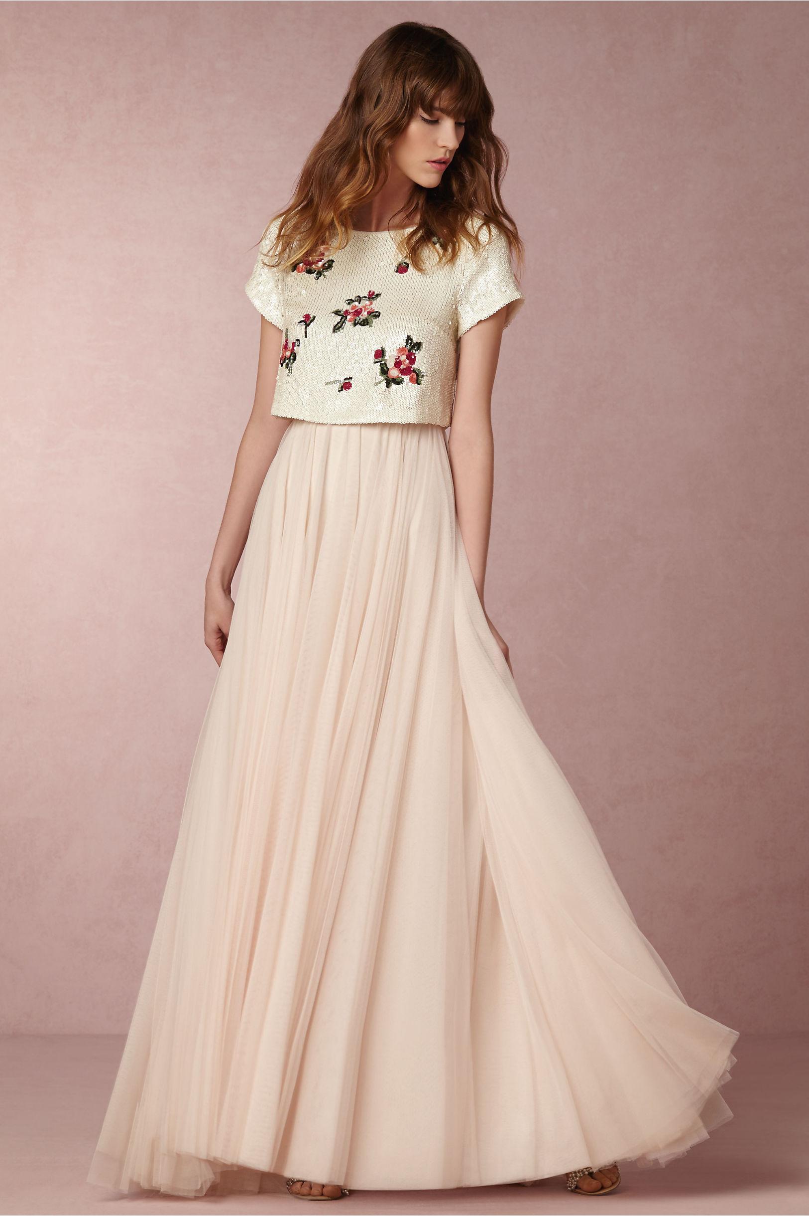 bride bridal separates wedding dress skirt Tulley Top Amora Skirt