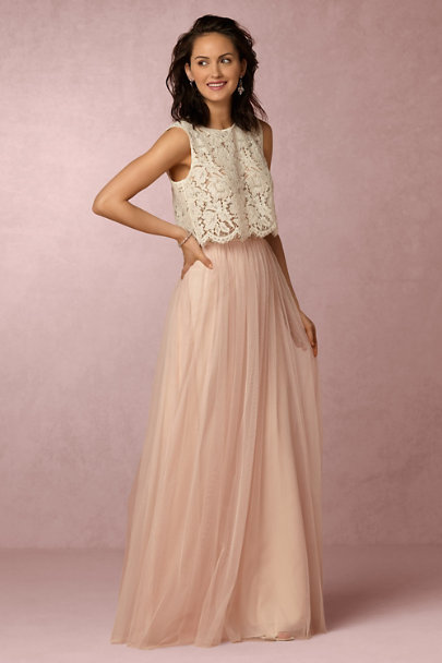 BHLDN Bridesmaid Dress Separates - Cleo Top and Louise Skirt