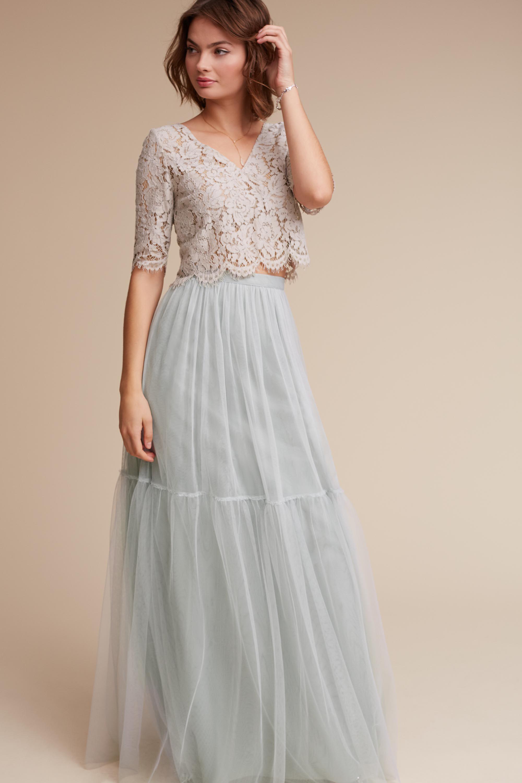 Wedding Taupe Bridesmaid Dresses lace bridesmaid dresses long short styles bhldn libby top blythe skirt