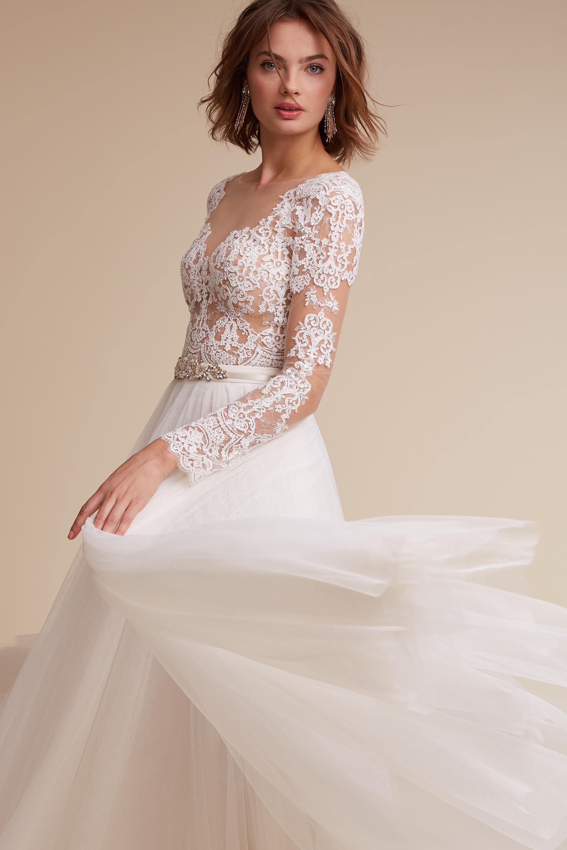 Wedding Wedding Dresses With Sleeves wedding dresses with sleeves long lace cap sleeve bhldn rhea bodysuit amora skirt