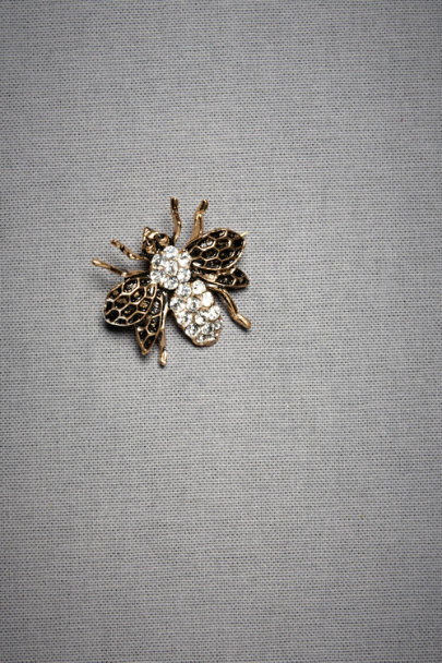 Azaara Antique Finish Honeybee Brooch | BHLDN