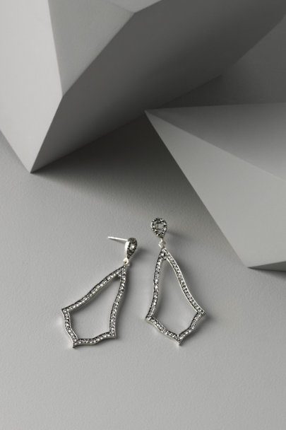 Azaara Silver Chime Earrings | BHLDN