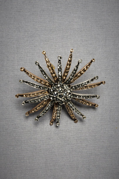 Azaara Antique Finish Quasar Brooch | BHLDN