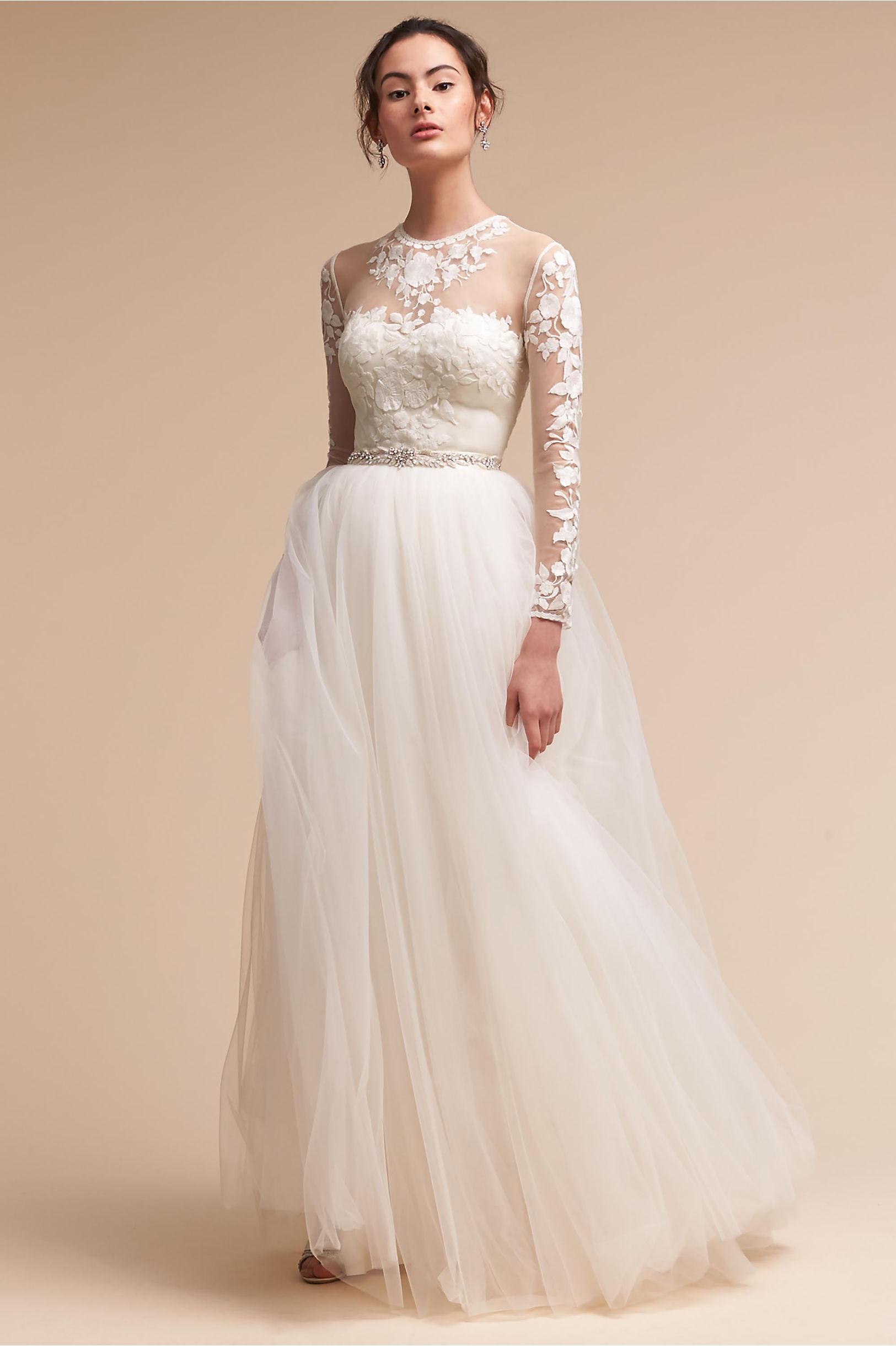 Wedding Dresses with Sleeves | Long & Cap Sleeve | BHLDN