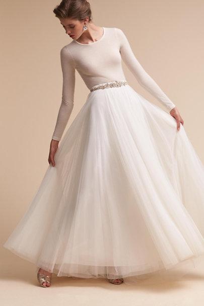 Marino bodysuit amora skirt in bride bhldn for Wedding dress bodysuit and skirt