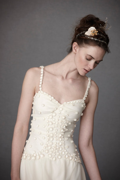 Anna Sui Ivory Dappled Alabaster Sheath | BHLDN
