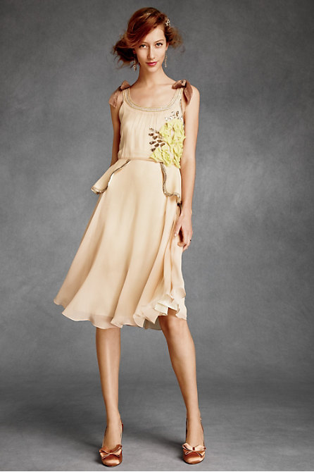 Citrine Rose Peplum Dress in  the SHOP Dresses at BHLDN