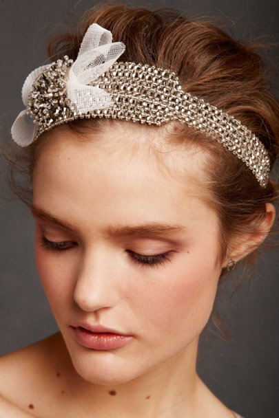 Debra Moreland Silver Silvered Stretch Headband | BHLDN