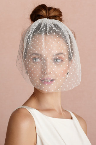 Dotted Voile Veil, $160