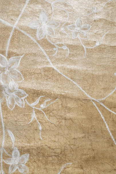 Soft Brown & White Budding Oleander Backdrop | BHLDN