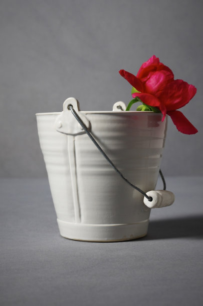 White Handyman's Ceramic Pail | BHLDN