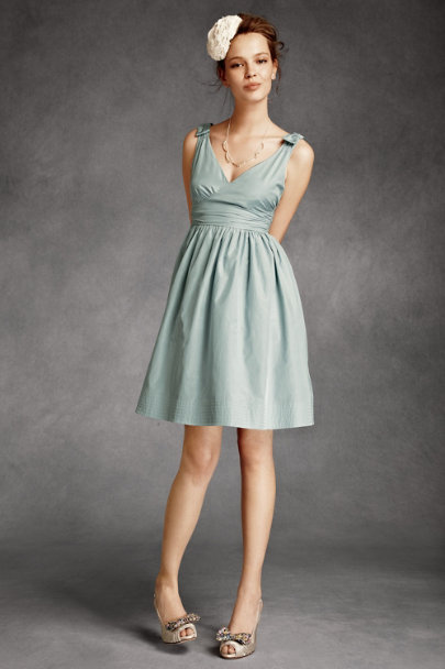Hitherto Powder Blue Beribboned Dress | BHLDN