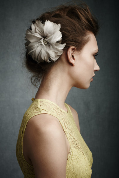Twigs & Honey Grey Peony Hairpin | BHLDN