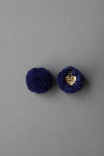 ban.do Indigo Pompom Shoe Clips | BHLDN
