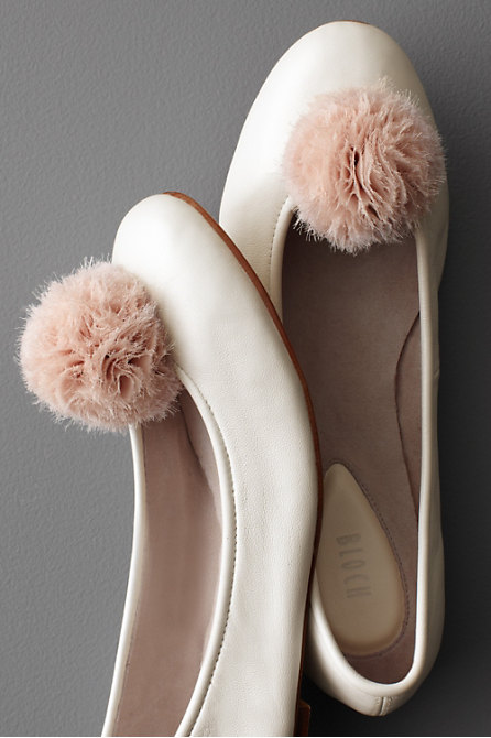 Pompom Shoe Clips in  the SHOP Shoes at BHLDN :  clips adornments shoes pompom