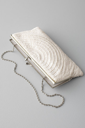 Deco Beaded Clutch, $180