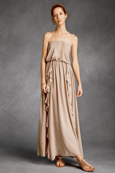 Fleur Wood Mocha Sandspun Maxi Dress | BHLDN