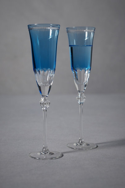Blue Lapis Toasting Flutes (2) | BHLDN