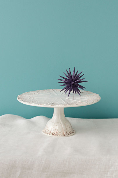 Pintucked Doily Treat Pedestal