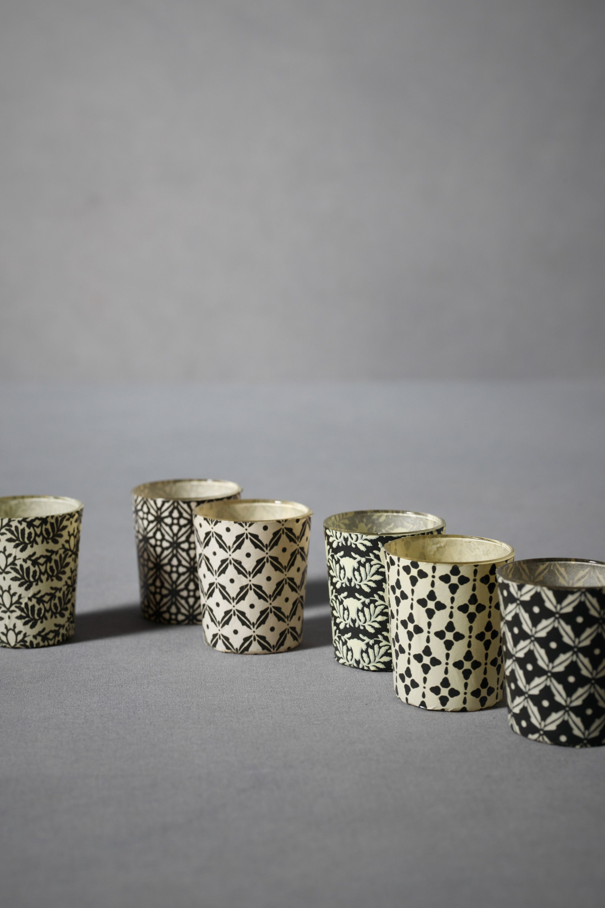 Overpriced patterned votives from BHLDN.