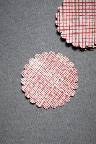 Scalloped Paper Coasters (50)