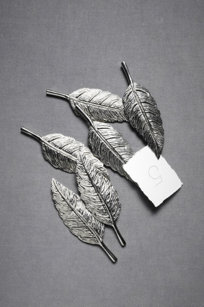 Silver Little Leaf Placeholders (6) | BHLDN