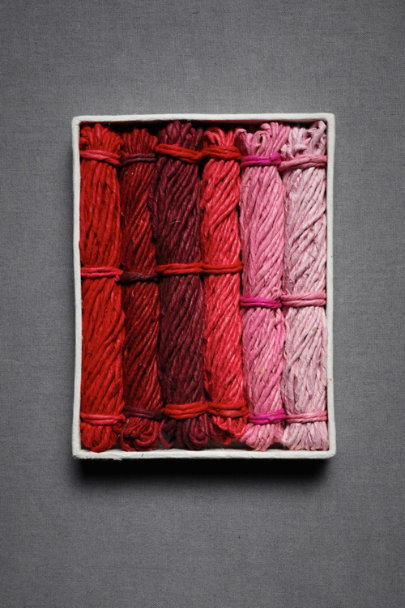 Pink & Red Multi Lokta Paper Twine | BHLDN