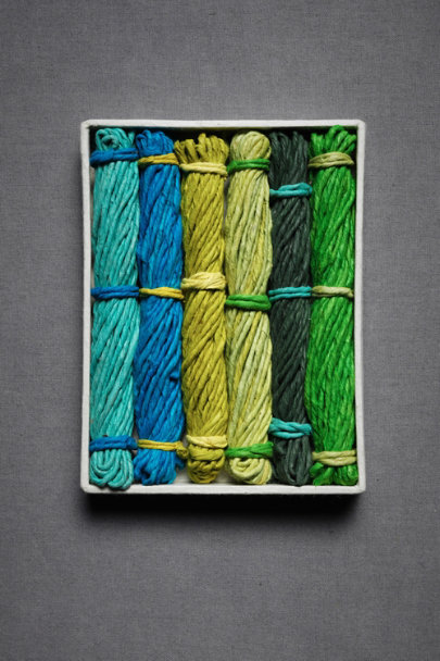 Blue & Green Multi Lokta Paper Twine | BHLDN