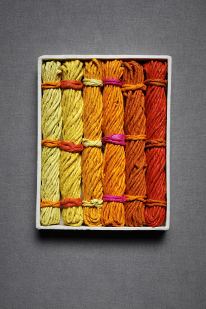 Orange & Yellow Lokta Paper Twine | BHLDN