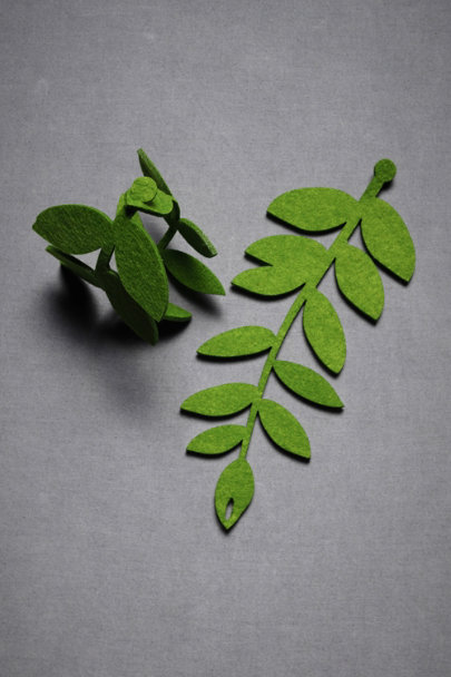 Felted Foliage Garland (20)