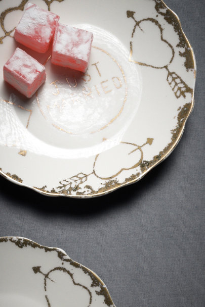 Gold Tea For Two Tidbit Plates (2) | BHLDN