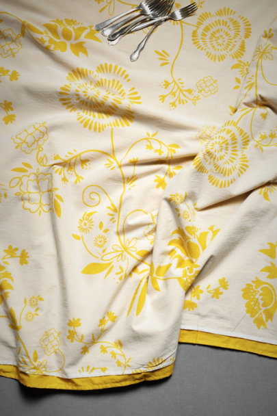 Yellow Floral Cravens' Garden Tablecloth | BHLDN