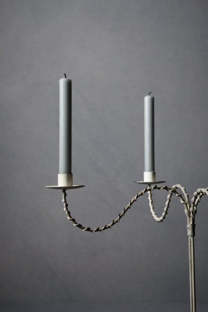 Antique White Sweeping Spindles Candelabra | BHLDN