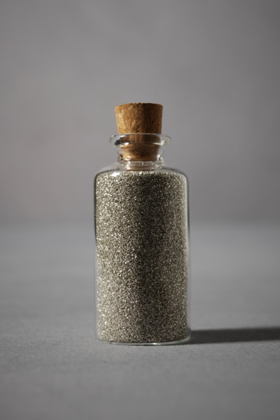 Silver Glass Glitter | BHLDN
