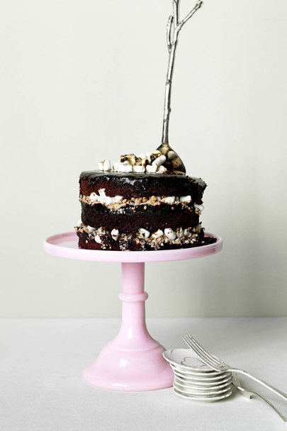 Silver Offshoot Cake Server | BHLDN