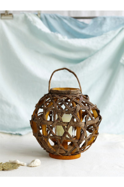 Natural Sliced Vine Lanterns | BHLDN