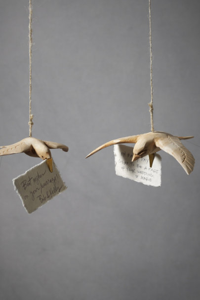 Natural Broad-Winged Dove Clips (5) | BHLDN