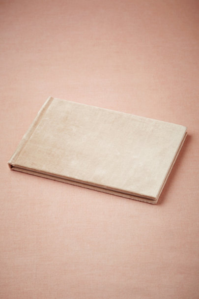 blush Handsome Velvet Guestbook | BHLDN