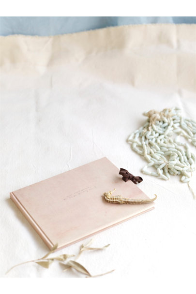 Vintage Brown Tea Stained Album | BHLDN
