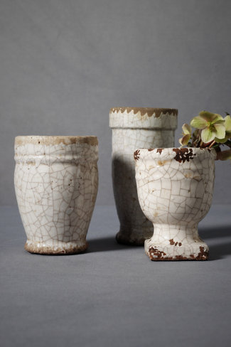 Crackled Terracotta Pots